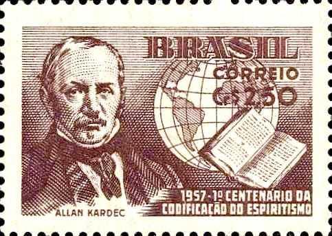 Allan Kardec timbre Brésil 1957