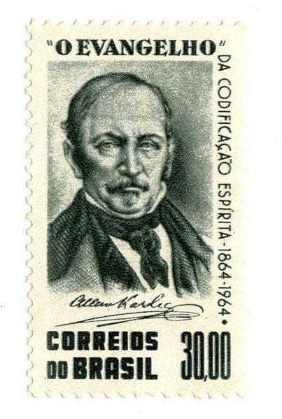 Allan Kardec, timbre Brésil 1964