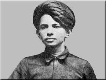 Gandhi as a teenager, in 1886.