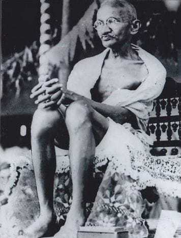 Mahatma Gandhi receiving an address in Kheda district, 1929. | _0059989997 Gandhi with Nehru in 1929.