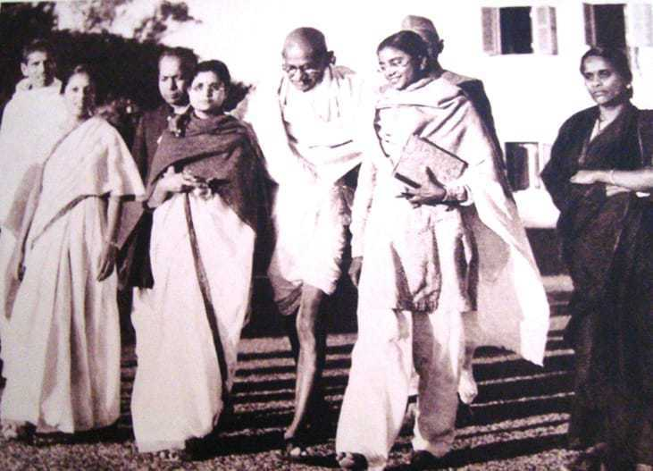 Gandhi's last footsteps on January 30, 1948, and the garden in which he was assassinated.