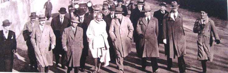 Mahatma Gandhi during his visit to Rome, December 12, 1931.