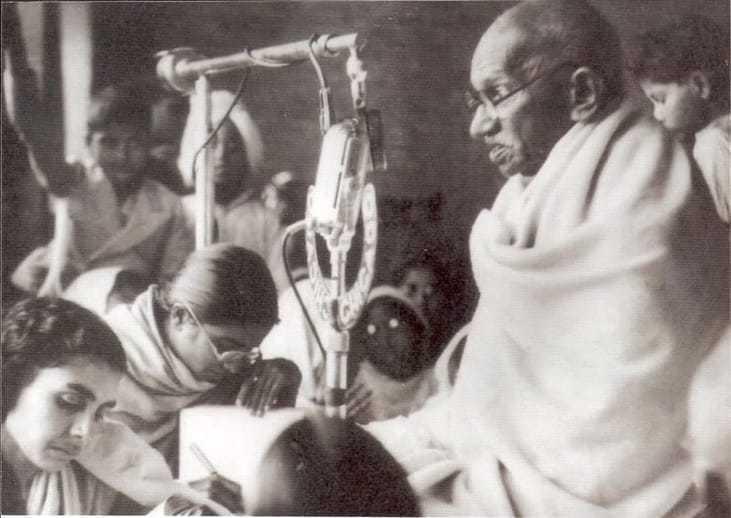 Gandhiji's last prayer at Birla House. 29th Jan, 1948.