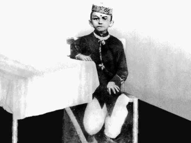 Mahatma Gandhi at the age of seven, 1876