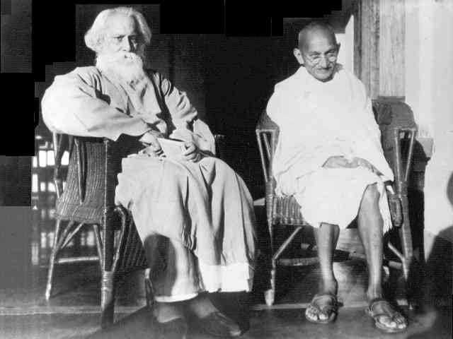 Tagore and Gandhi. February 1940.
