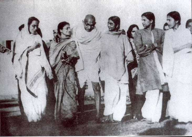 The last prayer meeting The day of Gandhi's assassination. January 30 1948.
