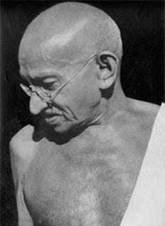 Gandhi at Sevagram. August 1944.
