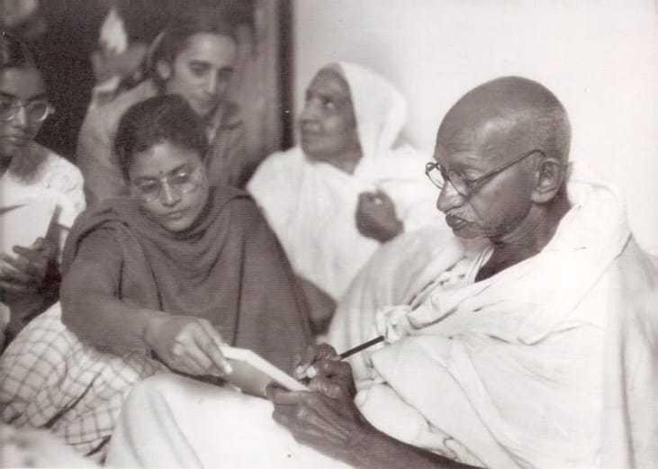 Writing a prayer message. January 18 1948.