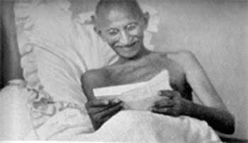 Mahatma Gandhi in Bombay. August 1942.