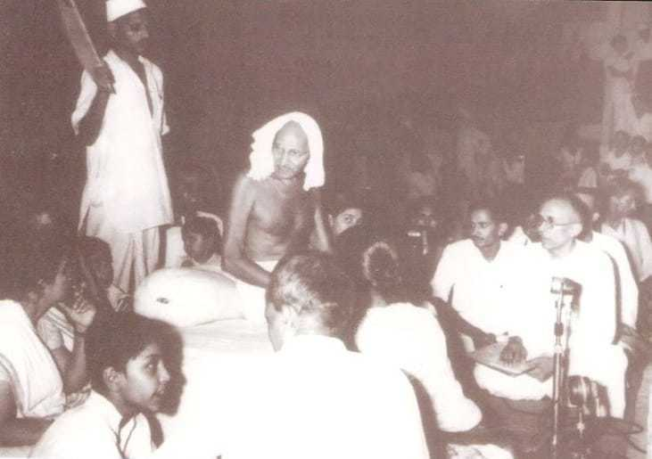 During his stay at Calcutta. 1947.