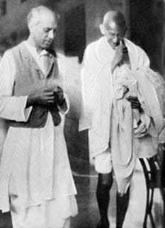 Gandhi with Nehru in 1929.