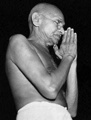 In greeting pose, Mumbai, March 1946