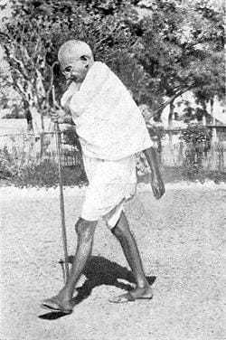 Walking in Noakhali (East Bengal). November 1946.
