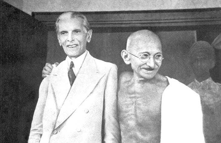 Gandhi and Jinnah in Bombay, September 1944.