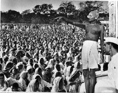 At a prayer meeting at Mumbai. 1946.