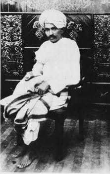 Mohandas K. Gandhi in 1918, when he led the Kheda Satyagraha against unjust taxation.
