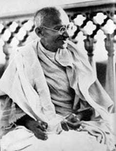 Gandhi at Allahabad in 1931.