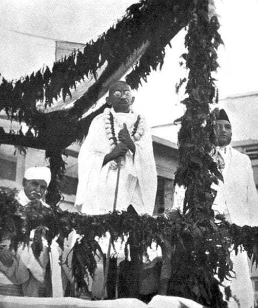Mahatma Gandhi and Malavia, 1934.