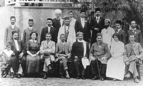 During the visit of Gopal Krishna Gokhale to South Africa, Durban, October 1912.