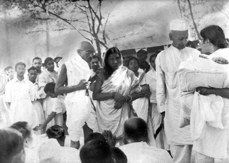 History records Malati Chaudhury's role walking with Mahatma Gandhi in the streets of Noakhali in 1947 in the wake of the communal riots and tirelessly working for peace. Her pace of work earned her the epithet 'Tofani' ('the storm') from the Mahatma. She was always among the first to reach the strife torn places such as Raurkela in 1964 and Cuttack in 1967 striving for peace, dignity and harmony among the affected people.