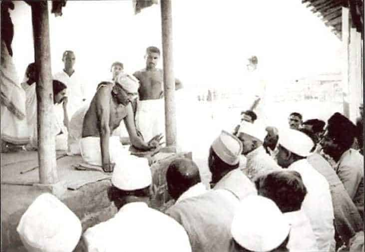 Gandhi with Followers, 1936.