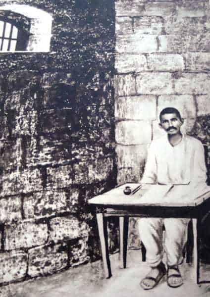 Rare photograph of Gandhiji