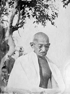 Gandhi at a Prayer meeting. 1947.