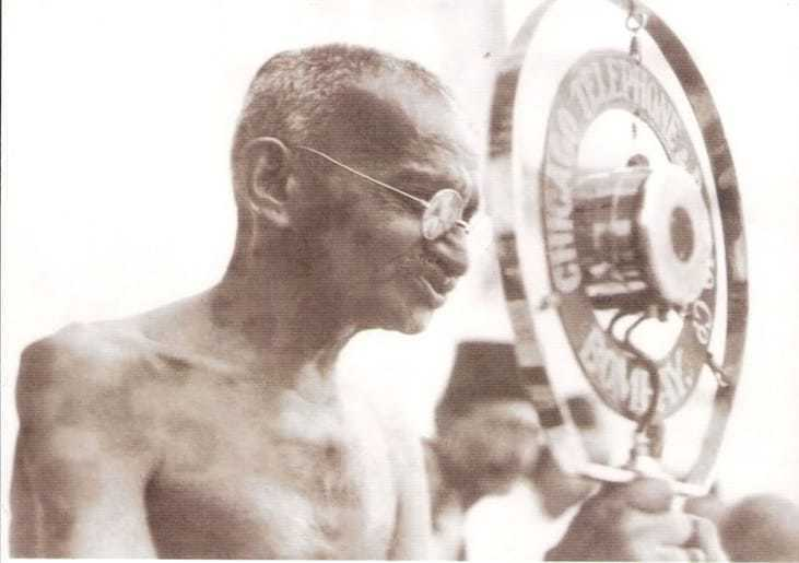 Gandhi arrived in Bombay on 5th April and addressed a public meeting at the Congress House on the importance of khaddar and the boycott of foreign cloth. About fifty foreign caps and few other foreign cloths were thrown on the platform. At the close of the meeting the foreign-made cloths were burned inside the Congress House compound. 5th April 1929.
