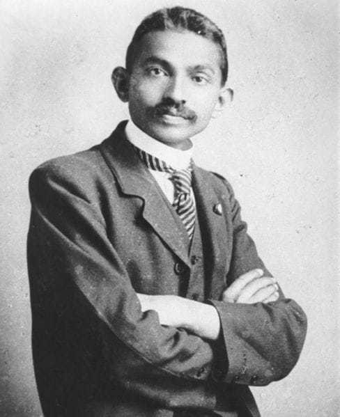 Gandhi as a lawyer in South-Africa, 1906
