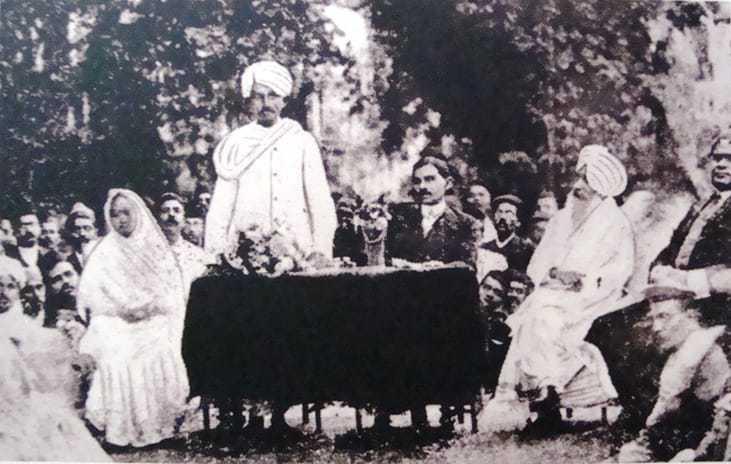 Rare photograph of Gandhi. 1915.