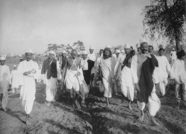 On March 12, 1930, Gandhi started his Dandi March (Salt Satyagraha) from his residence at Sabarmati protesting against the 1882 Salt Act, which gave the British a monopoly on the collection, storage and trade of salt, and which levied a salt tax. On Apr 6, 1930, Gandhi broke Salt laws at Dandi.