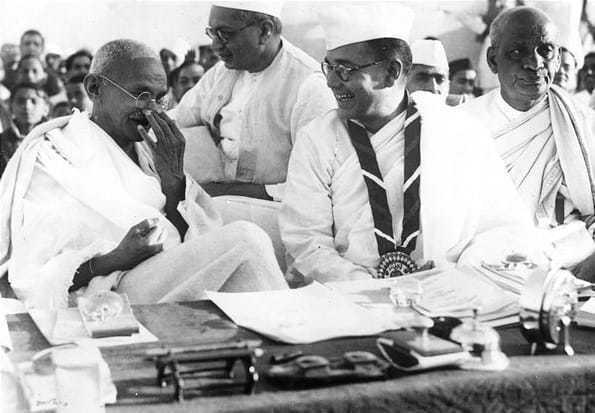 Gandhi and Subhas Chandra Bose, 1938.