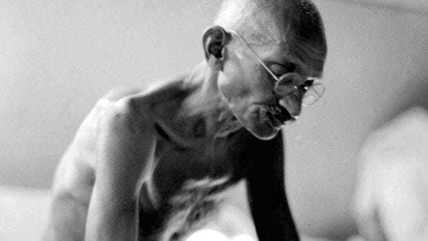 """Fast against Separate Electorate. On September 20, 1932, Gandhi went on a fast protesting against a separate electorate for Harijans. In his words, such """"separation would kill all prospects of reform""""; """"when a man relies on a support, to that extent he weakens himself"""". September 20, 1932."""