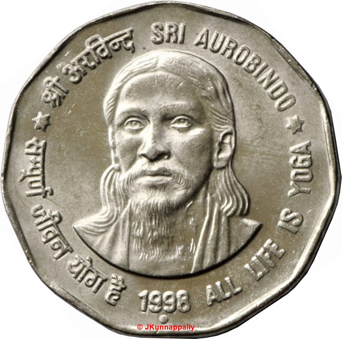 Sri Aurobindo coin