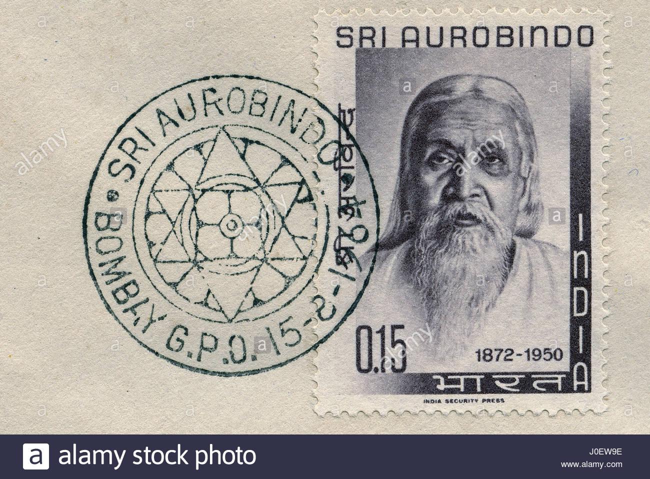 Sri Aurobindo post stamp