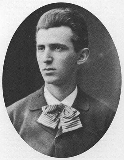 Tesla in 1879 at age twenty-three.