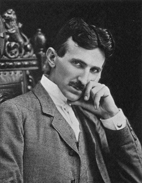Nikola Tesla in his forties.