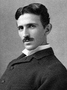 Nikola Tesla in 1890