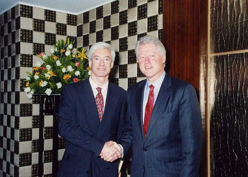 Laurence Brahm with President Bill Clinton.