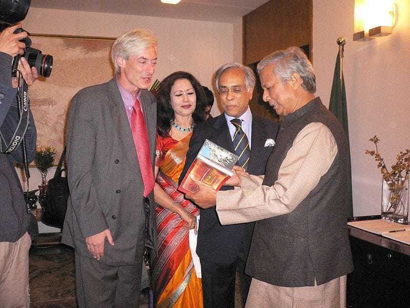 Laurence Brahm with Muhammad Yunus.