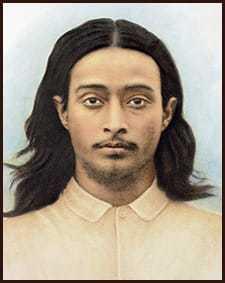 Paramahansa Yogananda as a young man