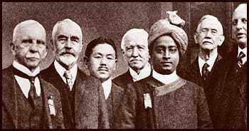 Paramahansa Yogananda and other delegates to Congress of Religious Liberals, Boston, 1920