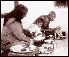 Paramahansa Yogananda and Mahatma Gandhi, 1935