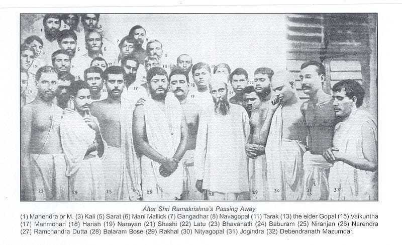 The Group of Disciples after Ramakrishna's funeral.