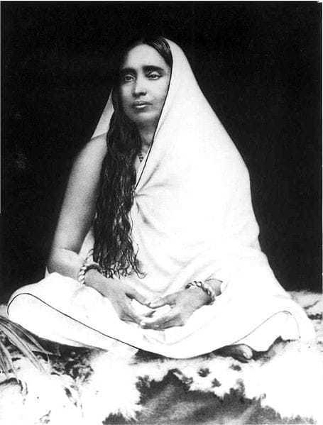 Photo of holy mother Sri Sarada Devi.