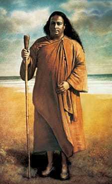 Painting of Paramahansa Yogananda in India